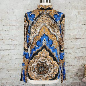 Free People Eclipse Print Turtleneck Top S NWT